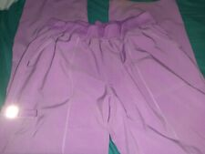 Scrubstar womens Medical Pants, Size Large With Elastic Band Pink.