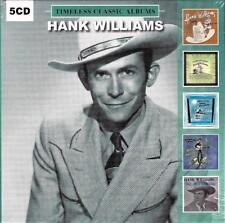 HANK WILLIAMS - TIMELESS CLASSIC ALBUMS (NEW SEALED 5CD)