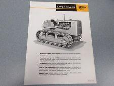 Caterpillar  D9G Crawler Tractor Sales Sheet   1967