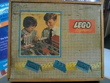 Vintage Lego System 700/K Town Plan Wooden Box Set with scarce inventory leaflet