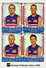 2011 AFL Teamcoach Trading Cards Silver Parallel Team Set Western Bulldogs (11)