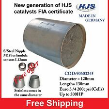 HJS Tuning Catalytic Converter Substrate Universal Euro 4 200 cpsi  D120 L130