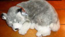Perfect Petzzz Alaskan Husky Plush Puppy Breathing Huggable Animal Dog