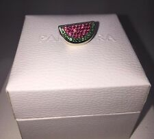 Authentic Pandora Silver Charm Pave Watermelon Red & Green CZ 791901CZR
