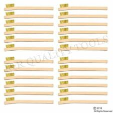 "24-PACK 8"" LONG BRASS WIRE WOOD HANDLE BRUSH RUST & DIRT REMOVAL TOOTHBRUSH"