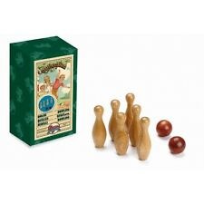 Cayro Classic Games Mini BOWLING Wooden Balls Pins Collectible Children Toy