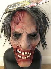 Horror Halloween Latex Zombie Mask With Attached Wig