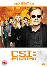 "CSI MIAMI €"" COMPLETE SEASON 10 - DVD - REGION 2 UK"