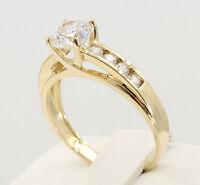1.50 Ct 14K Yellow Gold Trellis Round Engagement Wedding Propose Promise Ring