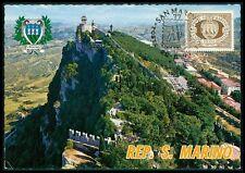 San MARINO MK 1977 3 torri Towers maximum carta carte MAXIMUM CARD MC cm bg42