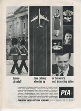 1962 Pakistan International Airlines PIA PRINT AD London Jet Customers Campaign