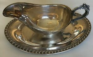 Vintage Silver Cream Holder Attached On A Try