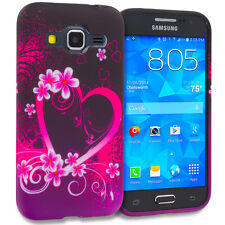 For Samsung Galaxy Core Prime TPU Case Design Rubber Cover Skin Purple Love