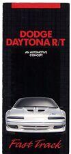 Dodge Daytona R/T Concept Car 1990 USA Market Foldout Sales Brochure