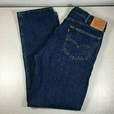 Levis 505 Regular Fit Straight Leg Jeans Dark Wash Mens Size 40 x 34