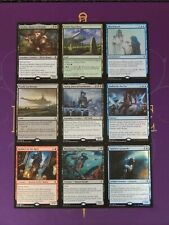 MTG MAGIC THE GATHERING THRONE OF ELDRAINE DELUXE UNCUT SHEET 2 MYTHIC 2 LANDS