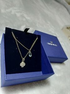 Swarovski duo necklace - white, rhodium-plated - relisted as bidder did not pay