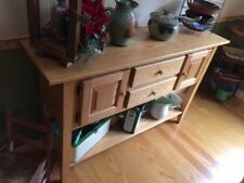 dining set and broadside. nateral pine. seats 6