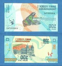 Madagascar P-97 100 Ariary 2017 Butterfly Birds Uncirculated Banknote AUCTION