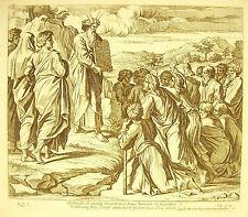 Moïse descendit de la montagne de Sinaï Exode La Bible N Chaperon 1649 a Raphaël