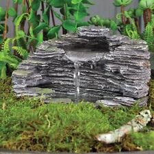 Fairy Garden Miniature ~ Shale Fountain ~ Mini Dollhouse