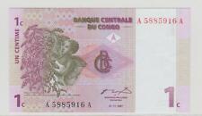 CONGO 1 CENT 01.11.1997 UNC