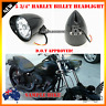 "5.75"" gloss black billet alloy bullet headlight Harley Sportster dyna softail XL"