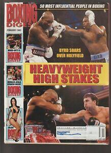 2003 February BOXING DIGEST Magazine EVANDER HOLYFIELD Mickey Ward Arturo Gatti