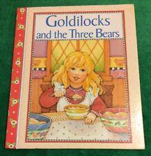 Vintage 1996 Goldilocks And The Three Bears Fairy Tale Fiction Book Story Garden