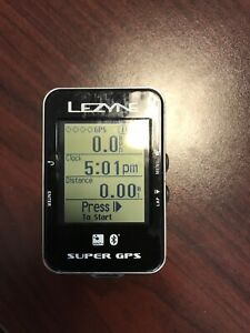 Lezyne Super Cycling GPS Computer W/ Bike X-Lock Standard Mount USB Cable