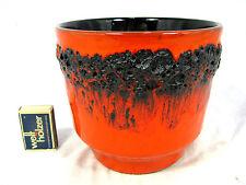 70´s design KREUTZ  Keramik  Fat Lava  Keramik flowerpot Blumen Übertopf 14 cm