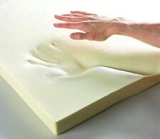 """Orthopaedic Memory Foam Mattress Toppers All Sizes and Depths Zip Cover 4"""" Double 4ft6"""