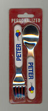 Personalized Fork & Spoon Set ~ PETER ~ Stocking Stuffer ~ Balloons ~ Gift