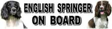 ENGLISH SPRINGER ON BOARD Car Sticker By Starprint
