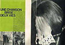 "coupure de presse clipping   1967   DALIDA "" un chanson brise 2 vies"" (3 PAGES)"