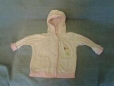 Baby Girls 9-12 months - Pink Hooded Cardigan with Disney Winnie the Pooh Motif