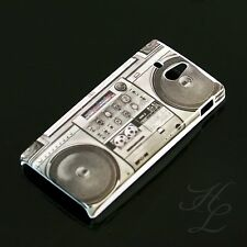 Sony Xperia U/st25i HARD CASE GUSCIO PROTETTIVO COVER ASTUCCIO motivo Ghetto Blaster