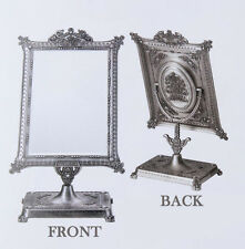 TABLE STANDING MIRROR ANTIQUE STYLE PEDESTAL MAKEUP SQURE RECTANGLE MIRROR