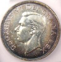 1948 Canada Dollar - ICG MS60 Details - Rare Key Date BU Uncirculated Coin