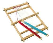 Telaio per tessitura in legno per bambini e adulti, con 2 spolette - 46 x 33cm