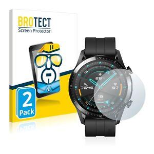 2x Pellicola Protettiva per Huawei Watch GT 2 (46 mm) Anti Graffio Proteggi
