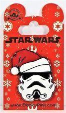Disney Star Wars Christmas Holiday Storm Tropper Wearing Santa Hat Pin NEW CUTE