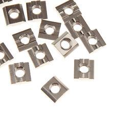 50 Schräggleitmuttern M 8 Gleitmutter Stahl gelb verzinkt