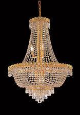 World Capital Empire 24x32 12 Light Dining Crystal Chandelier Light Gold