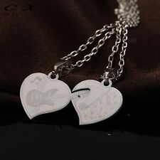 Collana doppio ciondolo Heart Music pendente coppia+catenina cuore musica regalo