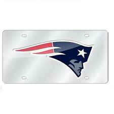 New England Patriots Mirrored Laser Cut License Plate Laser Tag