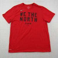 Nike Toronto Raptors Shirt Adult XL Athletic Cut Men Red Black We The North
