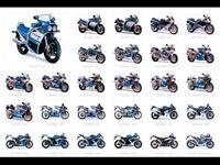 SUZUKI GSXR 750 COLLECTION RANGE MOTORCYCLE VINTAGE POSTER BROCHURE ADVERT A3