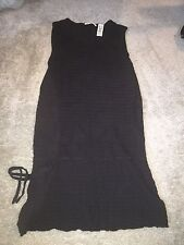 Stamp 10 Women's Black Long Sweater Shirt Sleeveless Size XL
