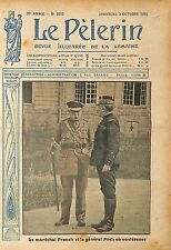 Général Foch Maréchal de France Field Marshal John French WWI 1915 ILLUSTRATION